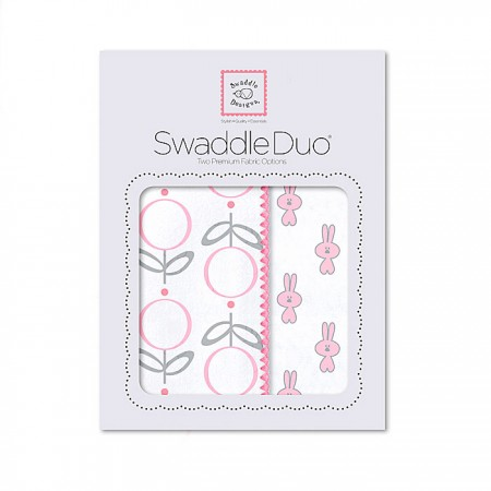 Swaddle Duo - Little Bunnies (Pink)