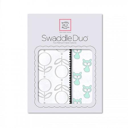Swaddle Duo - Little Fox (Green)