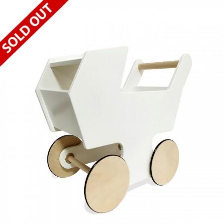 Manny and Simon White Stroller Push Cart